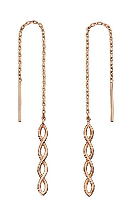 Elements Gold Women 9ct (375) Rose Dangle and Drop Earrings GE2174 HkcqS5kxda