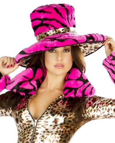 J. Valentine Women's Pimp Hat, Leopard/Hot Pink, One Size