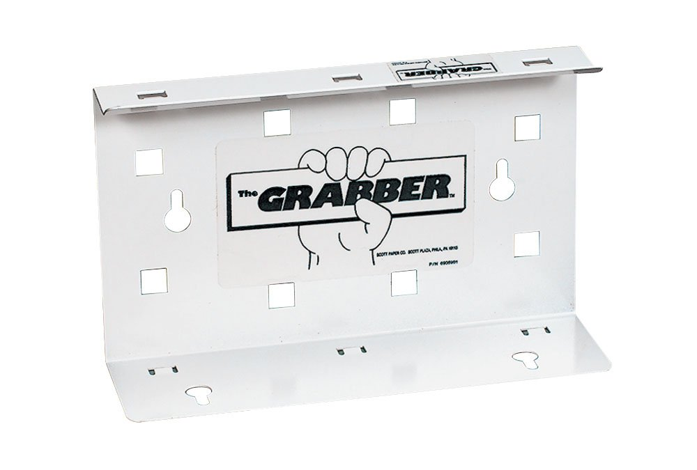 Kimberly-Clark 09352 The Grabber Dispenser, 9-19/64'' Width x 2-3/4'' Height x 5-7/8'' Depth, White (Case of 12)
