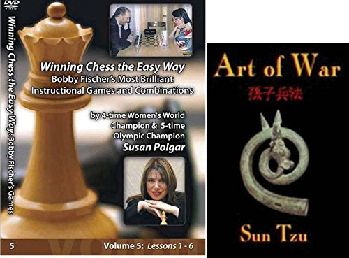 Winning Chess the Easy Way with Susan Polgar, Vol. 5: Bobby Fischer's Most Brilliant Instructional Games and Combinations bundled with Art of War CD - Edition Instructional Cd