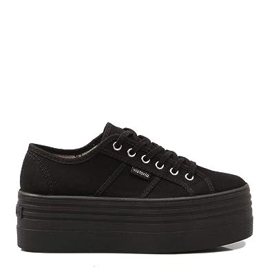 Victoria, VICTORIA Plataforma Negro, Zapatilla Negra con Plataforma para Mujer: Amazon.es: Zapatos y complementos