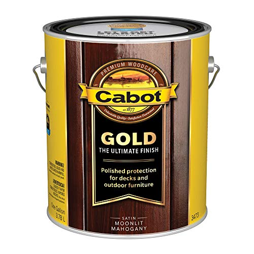 Mahogany Gallon - Cabot/Valspar 3473-07 3473 1 Gallon Moonlit Mahogany Wood Finish, Gallon