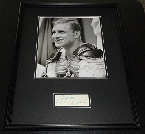 Bobby Hull Signed Photograph - Toothless Framed 16x20 Poster Display - Autographed NHL Photos