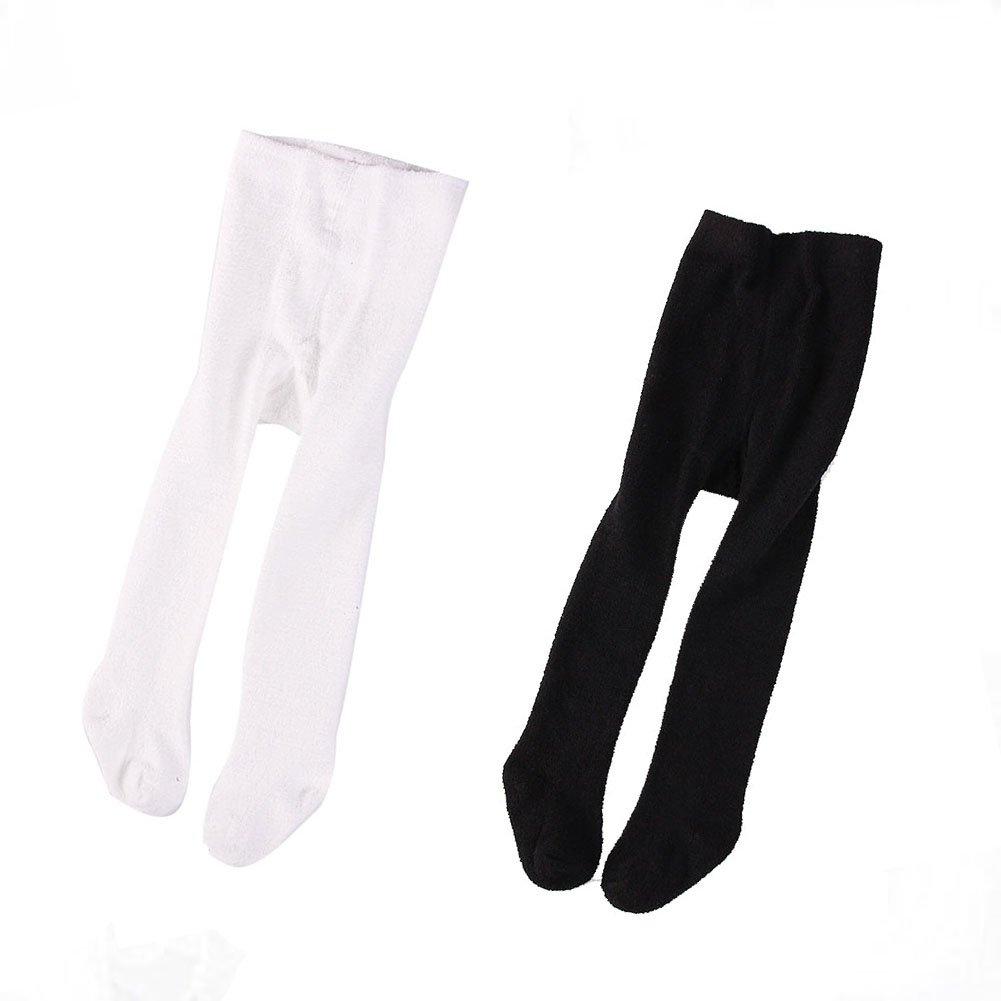 YallFairy SOCKSHOSIERY ユニセックスベビー 12-24 months(suitable height 80-90cm) ブラック+ホワイト B07769NCBW