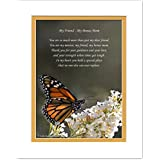 Second Mom, Stepmom or Friend Like-A-Mom Gift with You are My Mentor, My Friend, My Bonus Mom Poem, Butterfly Photo, 8x10 Double Matted. Stepmother, Special Birthday, Christmas