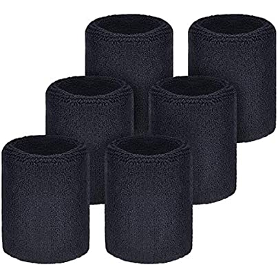 LILITRADE Sports Wristbands Absorbent Sweatbands For Football Basketball Running Athletic Sports Unisex Non-slip Light-weight Pack Estimated Price £5.25 -
