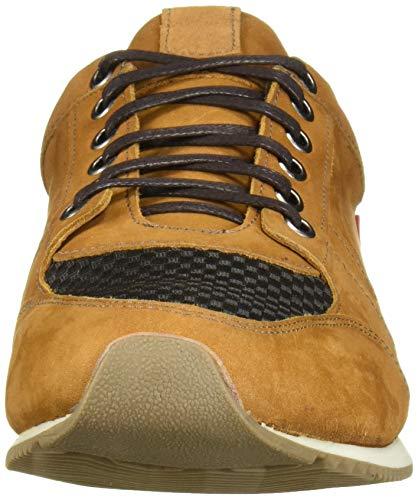 Marc Joseph New York Men's Genuine Leather Made in Brazil Luxury Fashion Trainer Sneaker, Mustard Nubuck, 9.5 M US