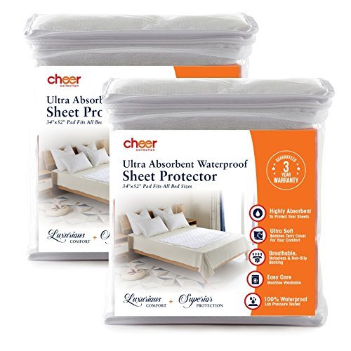 Cheer Collection Set of 2 Highly Absorbent 34