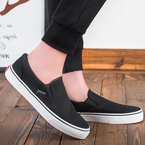 Black traspirante pigre uomo un Scarpe scarpe da Size Bianca tela Scarpe piatte scarpe basse da pedale Color scarpe Espadrillas moda uomo coreano 43 di YaNanHome terra stile vqTF8cP