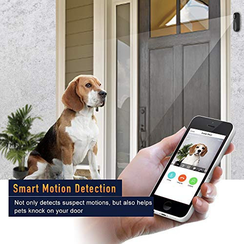 NETVUE Video Doorbell, A.I. Wifi HD Camera Doorbell with Facial Recognition, Voice Interaction, Night Vision, Motion Detection, Wireless Doorbell, Push Notification and Compatible with Alexa Echo Show by NETVUE (Image #6)