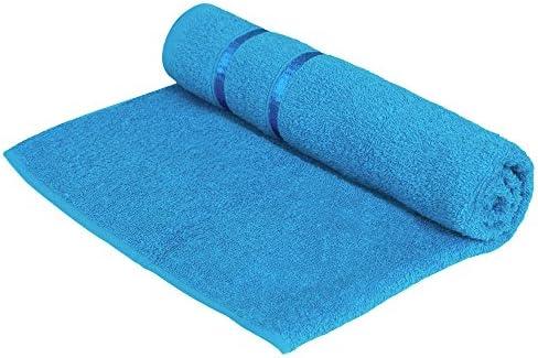 f4c643b02d27 Story Home Premium Soft Cotton Bath Towels Blue with Stripes 450 GSM Cotton  Blend Towel - Blue