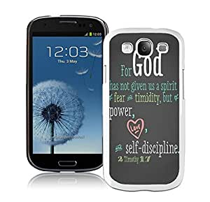 BINGO novelty Bible Quote Samsung Galaxy S3 i9300 Case White Cover