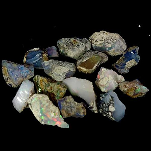 dadu_creation Natural Ethiopian Opal Paly Of Color Facet Rough Rainbow Specimen Lot 41.35Cts.