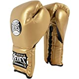 Cleto Reyes Traditional Lace Up Training Boxing Gloves - 16 oz. - Solid Gold