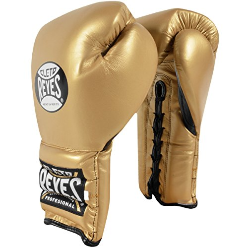 Cleto Reyes Traditional Lace Up Training Boxing Gloves - 16 oz. - Solid Gold by Cleto Reyes (Image #3)