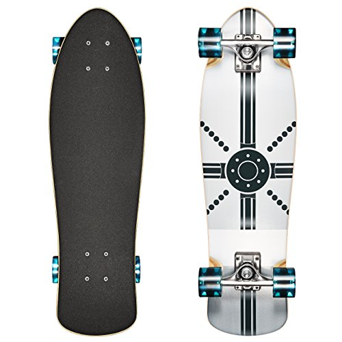 OMorc Maple Skateboard Cruiser Board Skateboard,7-Ply Maple Wood Deck, Holds up to 330 lbs (Cruiser Board Trucks)