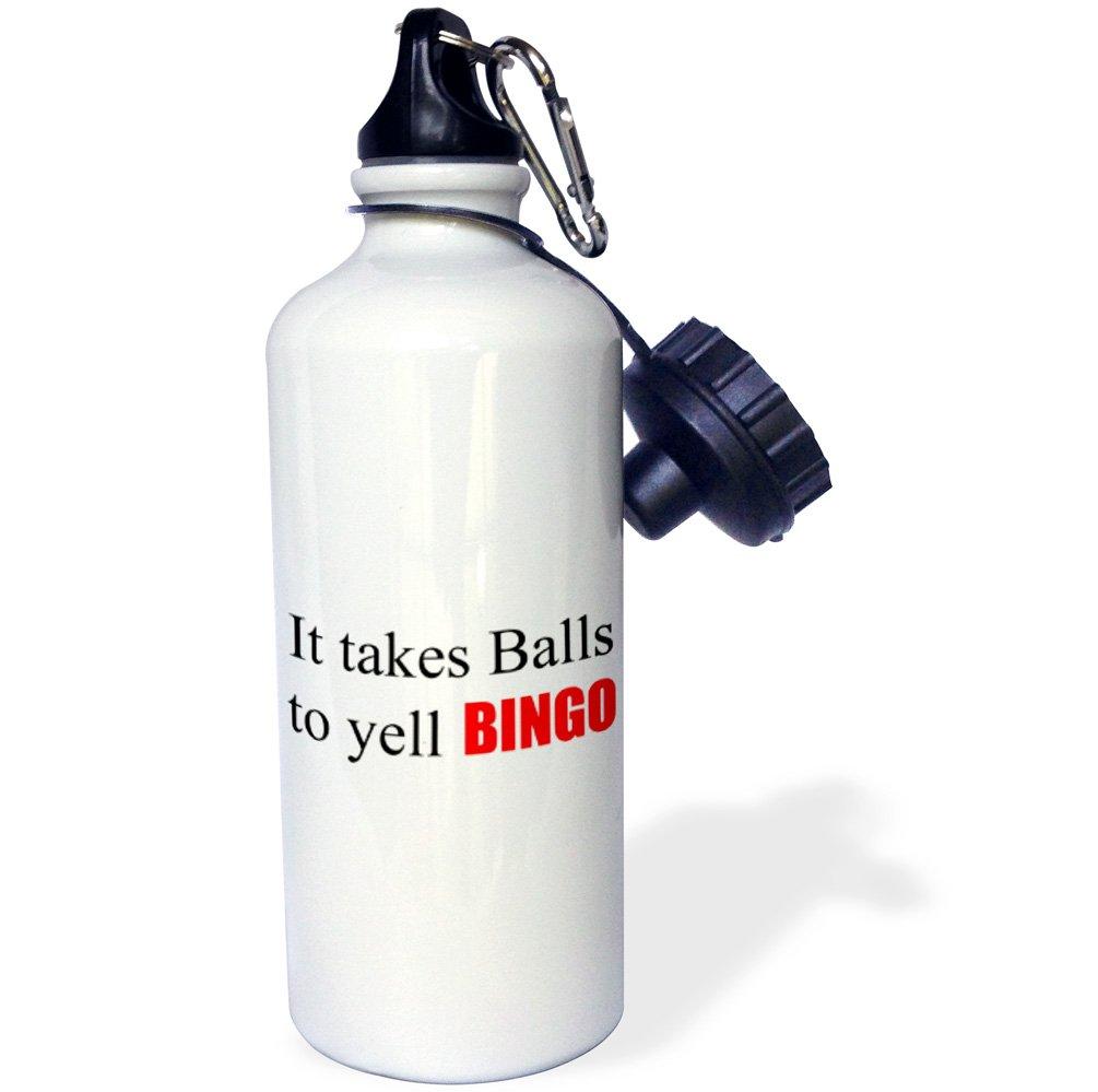 3dRose wb_218484_1 It takes balls to yell BINGO - Sports Water Bottle, 21oz by 3dRose