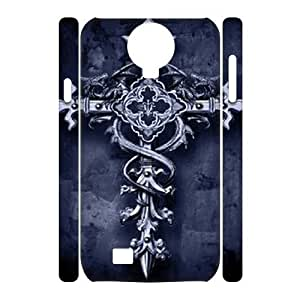 Customized Phone Case with Hard Shell Protection for SamSung Galaxy S4 I9500 3D case with Vintage Cross lxa#865821 by icecream design