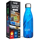 Tadge Goods Insulated Stainless Steel Water Bottle - Endangered Species Edition - Metal Thermo Style Bottles Great for Sports, Gym, Kids - Keeps Drinks Hot & Cold - 17 Oz Large
