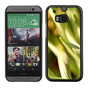 Soft Silicone Rubber Case Hard Cover Protective Accessory Compatible with HTC ONE M8 2014 - Nature Beautiful Forrest Green 15
