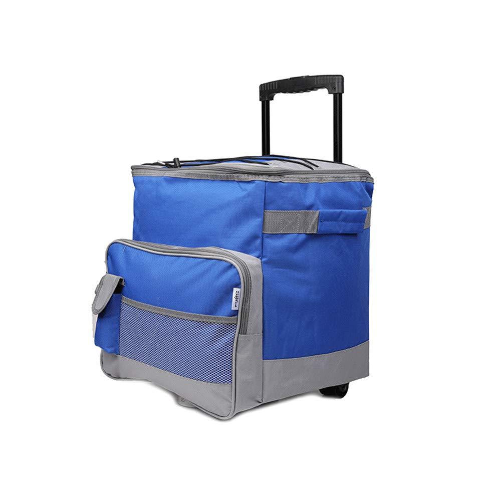 ローラートロリーピクニックリュックサックテレスコピックハンドルバックパック多機能冷蔵庫断熱バッグ400ML   B07K3XTKLC