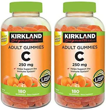 Kirkland Signature AMdFqz Vitamin C 250 mg., 180 Adult Gummies (4 Pack)
