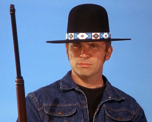 billy-jack-tom-laughlin-with-classic-hat-shotgun-8x10-hd-aluminum-wall-art