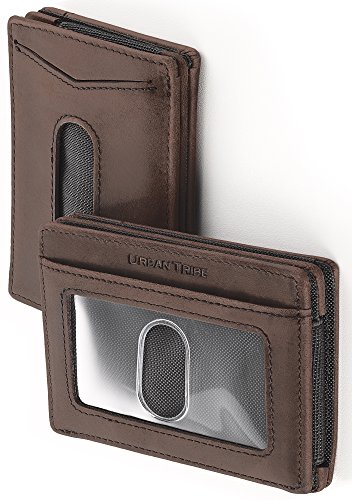 eeve Wallet Premium Leather Money Clip Card Holder for Up to 10 Cards ()