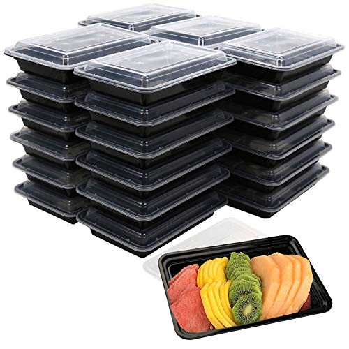 [30 Pack] Becozier Meal Prep Containers Stackable Bento Lunch Box with Lids FDA approved Freezer, Microwave Dishwasher Safe Food Storage