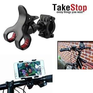 Takestop-Soporte de smartphone, reproductor de mp3, mp4, manillar universal para GPS de bicicletas, inclinable 360°
