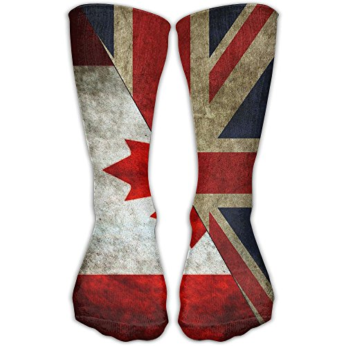 Men Women Canada UK British Flag Novelty Sport Stocking Socks Athletic High Sock Gift - Shops Designer Uk