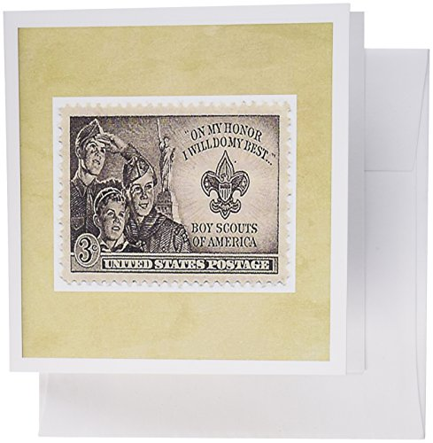 (3dRose image of boy scout postage stamp - Greeting Cards, 6 x 6 inches, set of 12 (gc_174645_2))