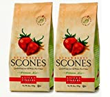 Sticky Fingers Scone Mix (Pack of 2) 15 Ounce Bags - All Natural Scone Baking Mix (Strawberry) by Sticky Fingers