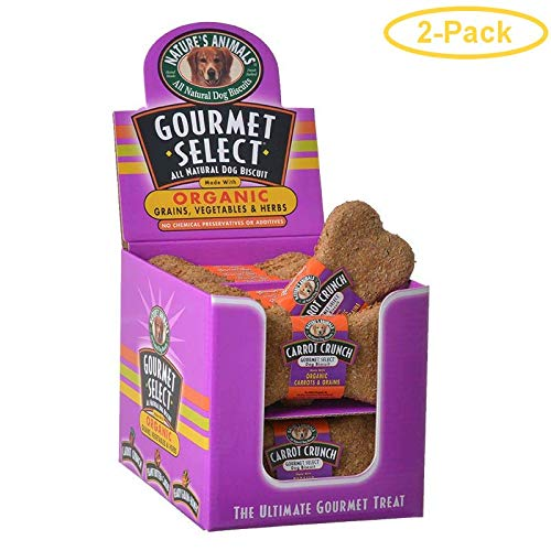 Nature's Animals Gourmet Select Organic Dog Bone - Carrot Flavor 24 Pack - Pack of 2