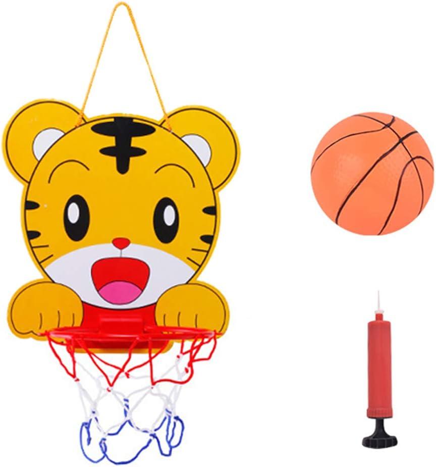 Deyan Kinder Cartoon Basketball Stand Spielzeug verstellbare s/ü/ße Tiere Korb Bildungssport Interaktive Spiele Basketball Board