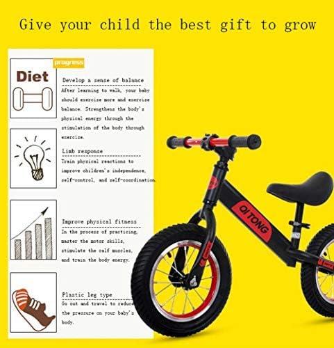 YSA 12インチキッズバランスバイク2 3 4 5歳の子供女の子&男の子グライダー/プッシュバイクペダルなし自転車用バランストレーニング