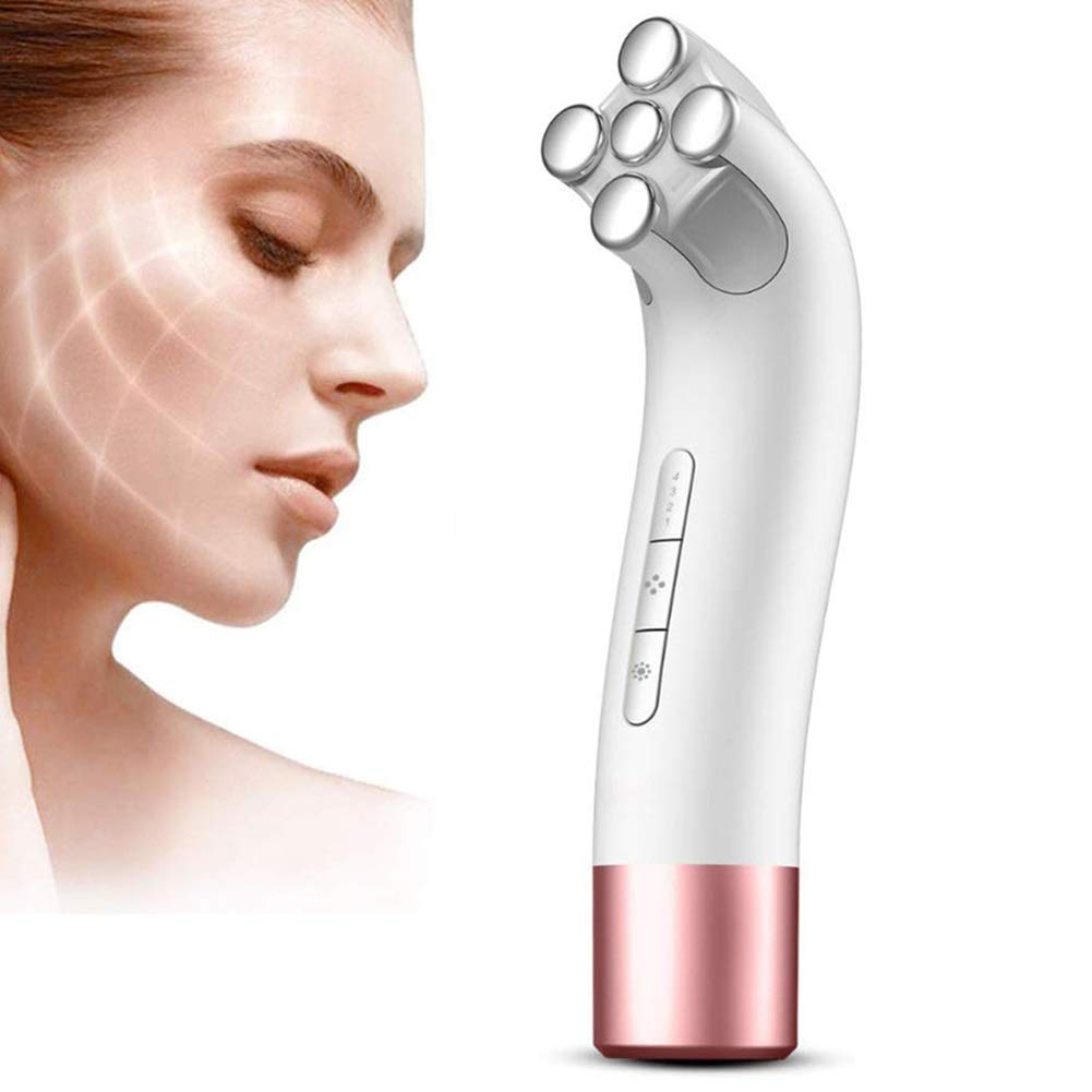EMS Iontophoresis Beauty Instrument,Facial Lifting Machine,Micro Current Introduction Facial Rejuvenation Spa Beauty Instrument, Remove Blackheads and Cleanse The Skin, 4 Files Wrinkle Remove Device by Jeann