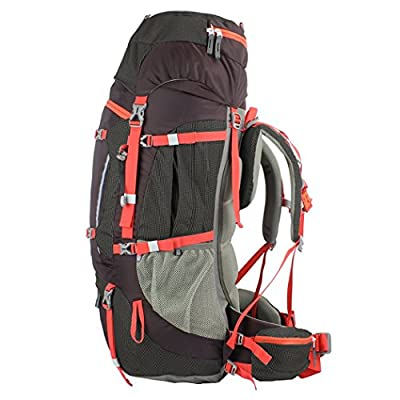 Mountaintop 65L+10L Internal Frame Hiking Backpack for Outdoor Hiking Travel Climbing Camping Mountaineering with Rain Cover-5821NEW