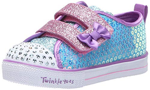 - Skechers Kids Girls' Shuffle LITE-Mini Mermaid Sneaker, Turquoise/Multi, 8 Medium US Toddler