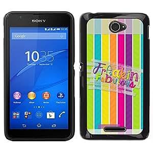 EJOY---Cubierta de la caja de protección para la piel dura ** Sony Xperia E4 ** --Líneas Fabulous Modelo en colores pastel