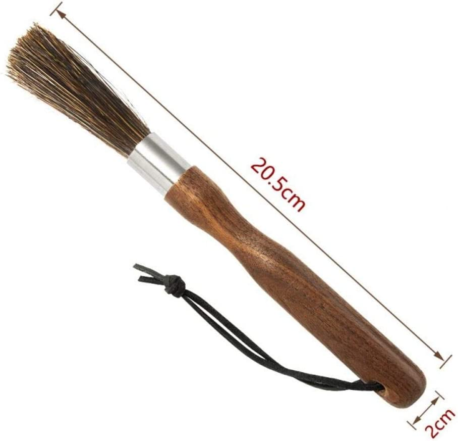 Casecover Coffee Grinder Cleaning Brush with Natural Bristles Lanyard for Barista Coffee Machine Brush