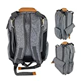 Laguna Tide Travel Diaper Bag Backpack w/Padded Infant Changing Mat | 12-Pocket Trendy Designer Tote w/Adjustable Shoulder Straps, Removable Stroller Straps | Waterproof Carryall (