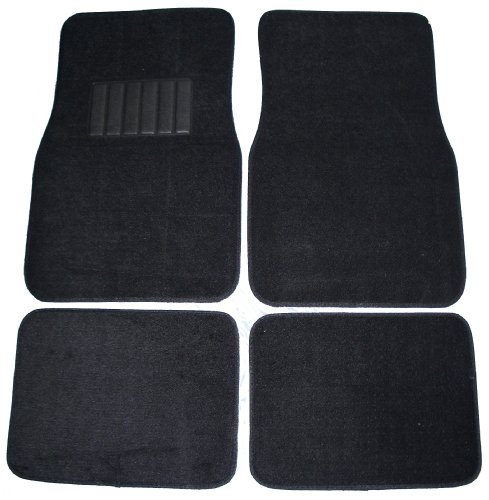 (Front & Rear Carpet Car Truck SUV Floor Mats - Black)