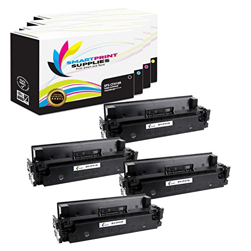 (Smart Print Supplies Compatible 410A Toner Cartridge Replacement for HP Laserjet Pro M452 M477 Printers (CF410A Black, CF411A Cyan, CF412A Magenta, CF413A Yellow) - 4 Pack)