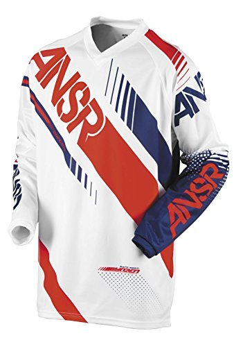 Answer 471731 Syncron Youth Jersey (White/Red, Large)