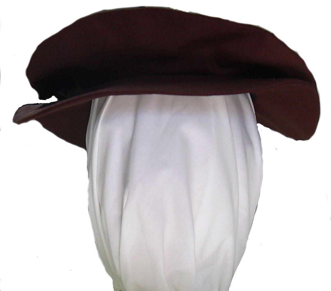 Men's Renaissance Tudor Brown Flat Cap - DeluxeAdultCostumes.com