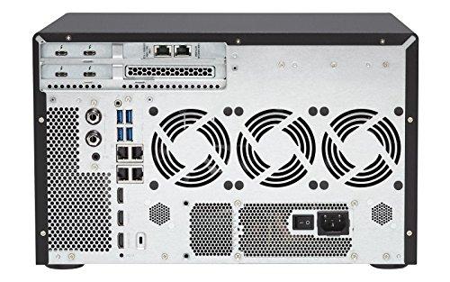 Qnap TVS-1282T3-i5-16G-US Ultra-High Speed 12 bay (8+4) Thunderbolt 3 NAS/iSCSI IP-SAN. Intel 7th Gen Kaby Lake Core i5 3.4GHz Quad Core, 16GB RAM, Thunderbolt3 port x 4 and 10Gbase-T x 2 by QNAP (Image #3)