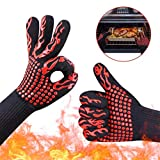 FRCOLT Hot BBQ Grilling Cooking Gloves Extreme Heat High Temperature Resistant Oven Welding Gloves