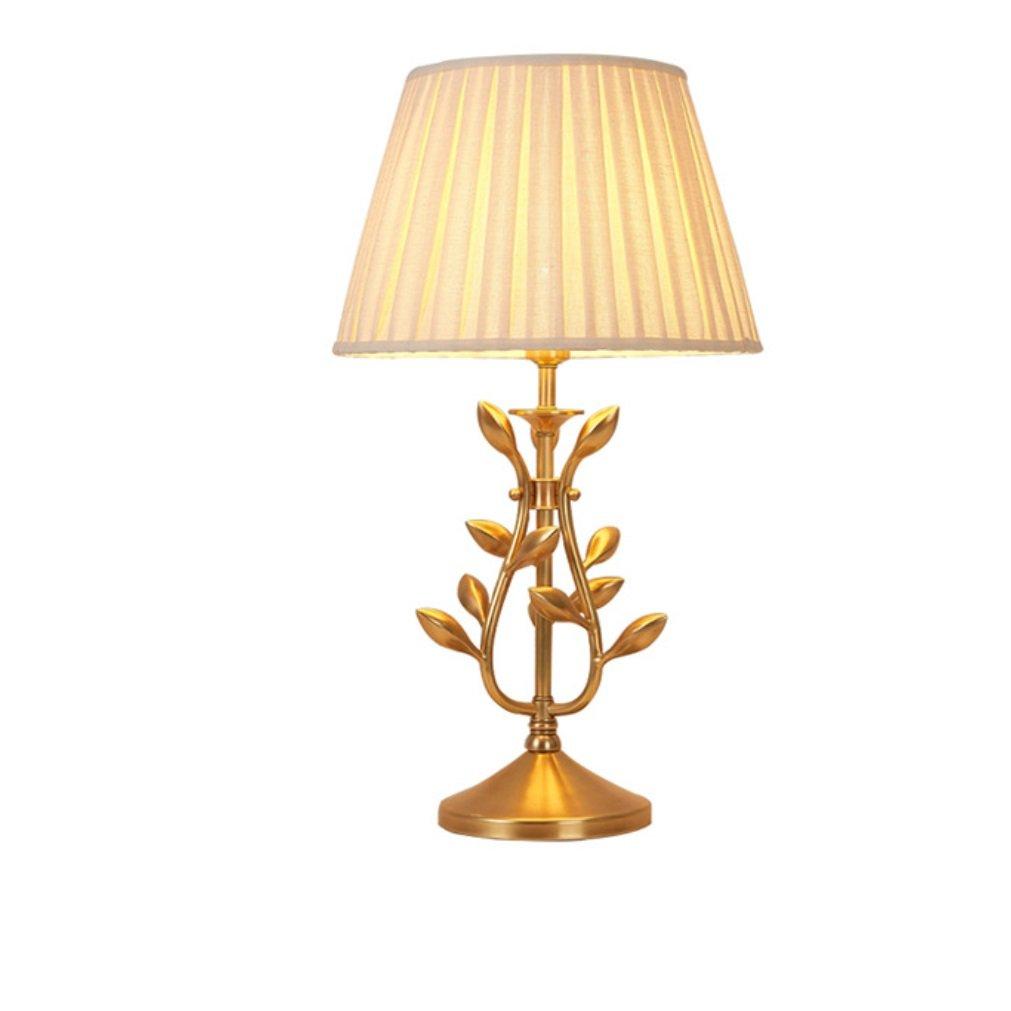 HAGDS Lampada da Tavolo in Rame Lampada da Comodino Camera da Letto Giardino Retro Luxury Luxury Creative Fashion Modern Minimalist Study Lamp