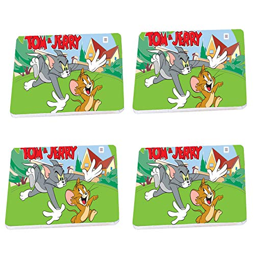 Wood Tea Coffee Coasters Coaster Set of 4 With Stand Tom Kids Halloween Christmas Birthday Jerry Gift D1